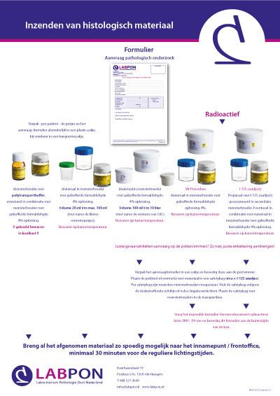 Poster inzendinstructie histologie Frontoffice